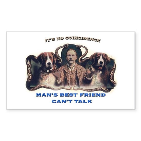 Man's Best Friend Rectangle Sticker