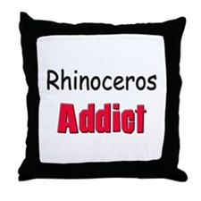 Rhinoceros Addict Throw Pillow