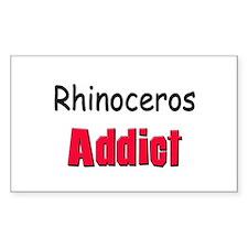 Rhinoceros Addict Rectangle Decal