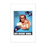 Buy War Bonds Mini Poster Print