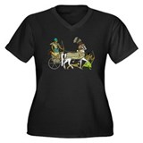 Ancient Egypt v2 Women's Plus Size V-Neck Dark T-S