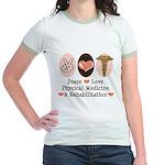 Peace Love PM&R Doctor Jr. Ringer T-Shirt