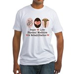 Peace Love PM&R Doctor Fitted T-Shirt