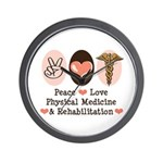 Peace Love PM&R Doctor Wall Clock