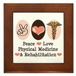 Peace Love PM&R Doctor Framed Tile