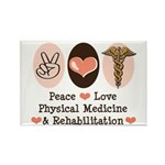 Peace Love PM&R Doctor Rectangle Magnet
