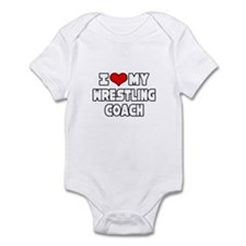 """I Love My Wrestling Coach"" Onesie"