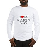 """I Love My Wrestling Coach"" Long Sleeve T-Shirt"