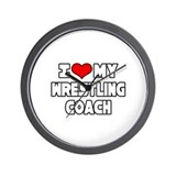 """I Love My Wrestling Coach"" Wall Clock"