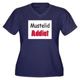 Mustelid Addict Women's Plus Size V-Neck Dark T-Sh