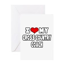 """I Love My X-Country Coach"" Greeting Card"