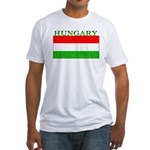 Hungary Hungarian Flag Fitted T-Shirt