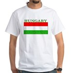 Hungary Hungarian Flag White T-Shirt