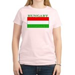 Hungary Hungarian Flag Women's Pink T-Shirt