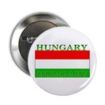 Hungary Hungarian Flag Button