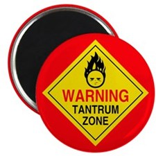 "Tantrum Zone 2.25"" Magnet (100 pack)"