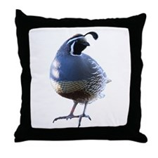 Evening Quail Throw Pillow