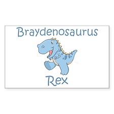 Braydenosaurus Rex Rectangle Decal