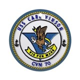 USS Carl Vinson CVN-70 Ornament (Round)