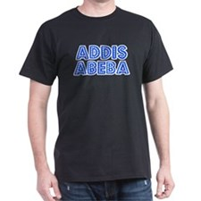 Retro Addis Abeba (Blue) T-Shirt