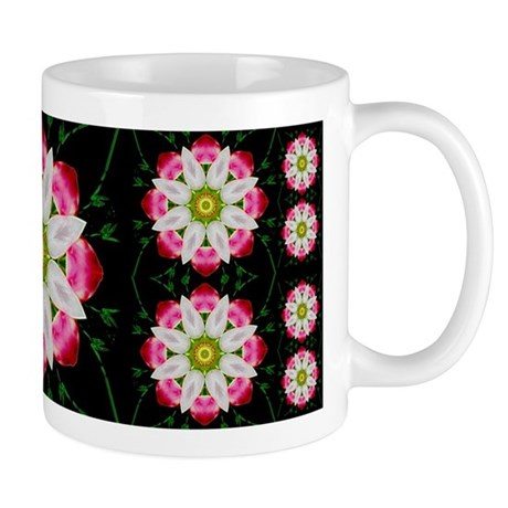 White Flower Mug
