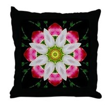 White Flower Throw Pillow