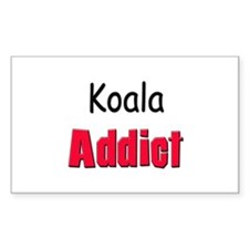 Koala Addict Rectangle Stickers