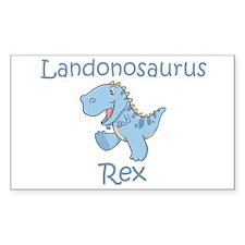 Landonosaurus Rex Rectangle Decal