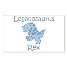 Loganosaurus Rex Rectangle Stickers
