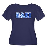 Retro Baki (Blue) Women's Plus Size Scoop Neck Dar