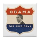 Obama JFK '60-Style Shield Tile Coaster
