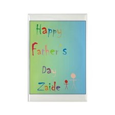 Happy Father's Day Zaide (Eng) Rectangle Magnet (1