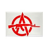AK-47 Anarchy Symbol Rectangle Magnet