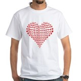 GREYHOUND HEART WHITE TEE