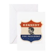 JFK '60 Shield Greeting Card
