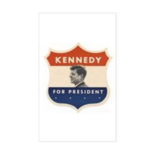 JFK '60 Shield Rectangle Decal