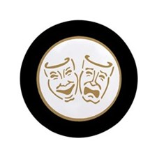 "Drama Masks 3.5"" Button (100 pack)"