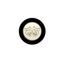 Drama Masks Mini Button (10 pack)