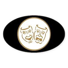 Drama Masks Oval Bumper Stickers