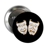 "Drama Masks 2.25"" Button"