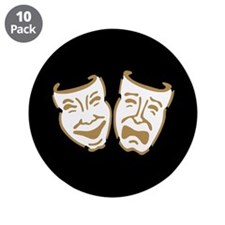 "Drama Masks 3.5"" Button (10 pack)"