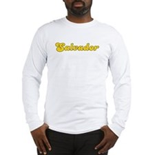 Retro Salvador (Gold) Long Sleeve T-Shirt