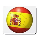 Spain Flag Soccer Ball Mousepad