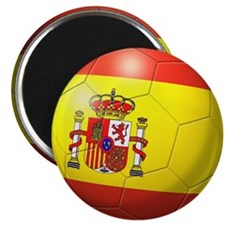 "Spain Flag Soccer Ball 2.25"" Magnet (100 pack)"