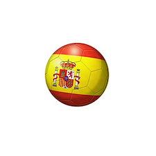 Spain Flag Soccer Ball Mini Button