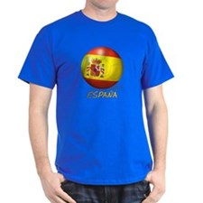 Espana Flag Soccer Ball T-Shirt
