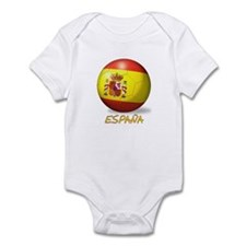 Espana Flag Soccer Ball Infant Bodysuit