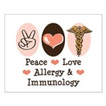 Peace Love Allergy Immunology Doctor Small Poster