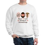 Peace Love Allergy Immunology Doctor Sweatshirt