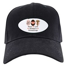 Peace Love Allergy Immunology Doctor Baseball Hat